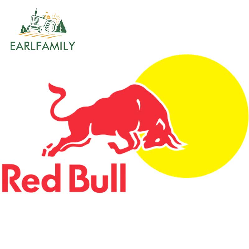 EARLFAMILY 13cm X 7.4cm For Kisspng-Red Of Bull-Logo Personalized Creative Stickers Car Assessoires Decals Vinyl Car Wrap DIY