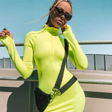 Winter Women 2019 Bodycon Bandage Dress Long Sleeve Midi Dresses Evening Celebrity Party Sexy Club Black Rose Red Green