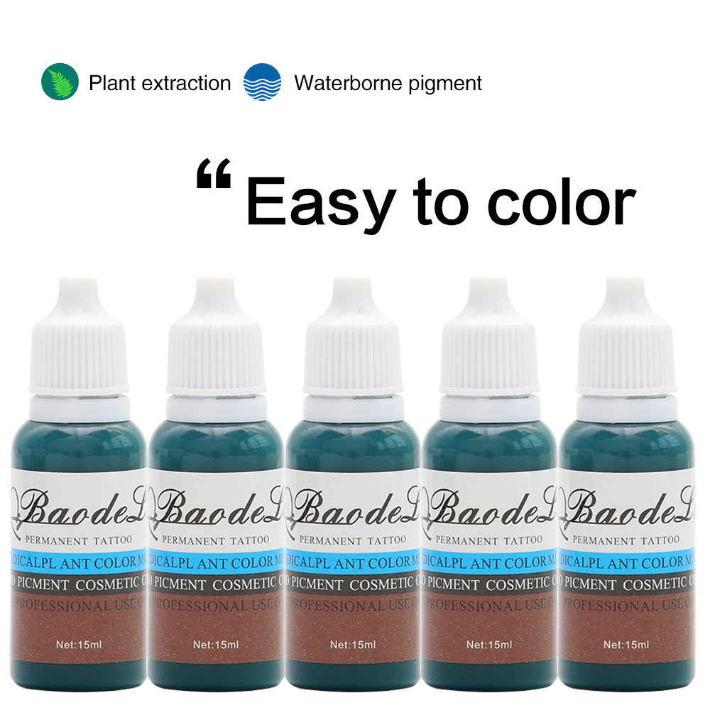 23 Bottles Of Tattoo Color 1 2oz Pigment Permanent Makeup Easy To Wear Eyebrows Eyeliner Lip Art Paint Tattoo Beauty Supply Tattoo Inks Aliexpress