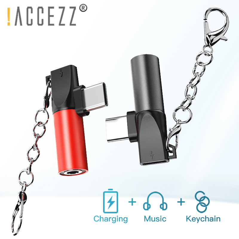 !ACCEZZ 2 In 1 USB Type C To 3.5mm Jack Earphone Adapter Charging Listening Converter Splitter For Xiaomi Mi8 Huawei P10 Mate 20