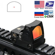 Visor de punto rojo para rifle, mira apta para weaver carril de 20mm para Airsoft/Rifle de caza, mini RMR