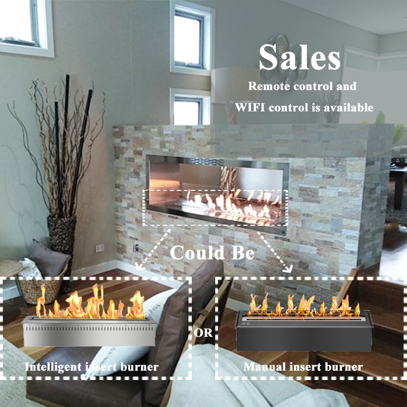 60 Inch Ethanol Fireplace Modern Electric Insert Fireplace