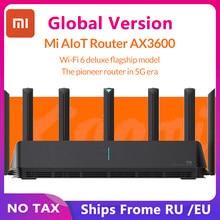 Маршрутизатор Xiaomi Mi AIoT AX3600 Wifi 6 двухдиапазонный 2976Mbs гигабитная скорость WPA3 шифрование безопасности сетка Wifi внешний усилитель сигнала