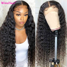 Transparent 13x6 Water Wave Lace Front Wig Pre Plucked Lace Front Human Hair Wigs For Women 5x5 Closure Wig Curly Human Hair Wig