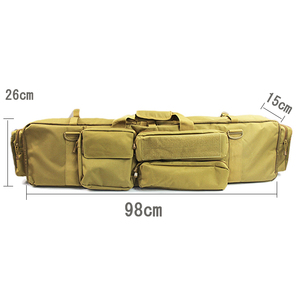 Image 5 - 100 cmarmy بندقية حقيبة الظهر مزدوجة بندقية حقيبة الحال بالنسبة منشار M249 M4A1 M16 AR15 Airsoft كاربين حقيبة حمل حقيبة الكتف حزام