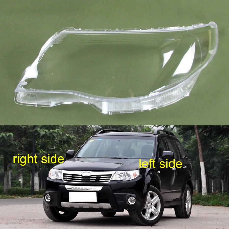 For Subaru Forester 2009 2010 2011 2012 Headlamp Cover Lamp Shell Transparent Lampshade Headlight Cover Lens Glass Shell