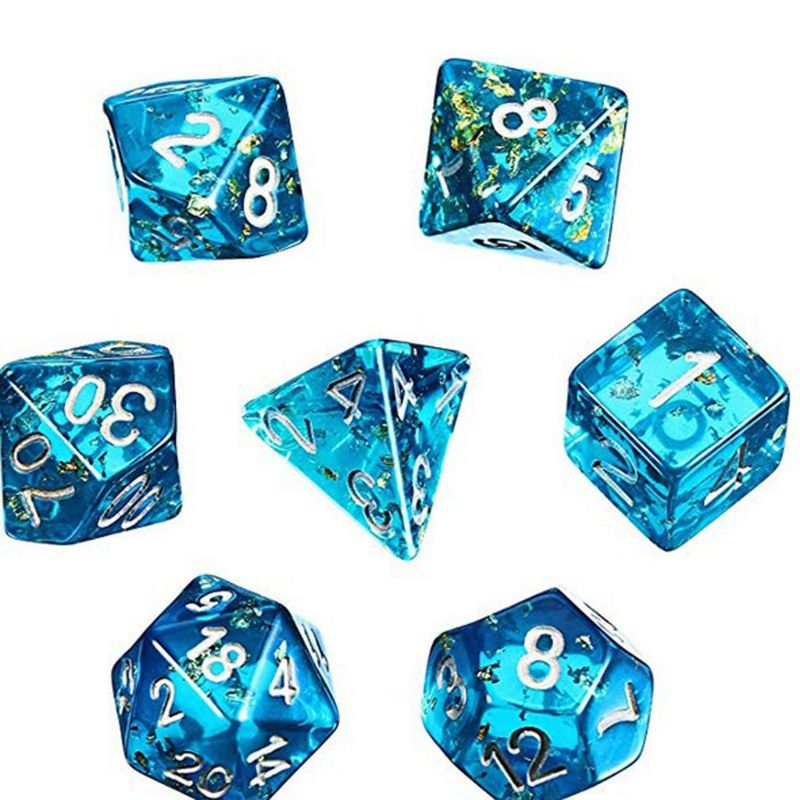 2019 New7 Shapes Dice Fillet Square Triangle Dice Mold Crystal Epoxy Resin Mold Kit Dice Digital Game Silicone Mould Art Craft