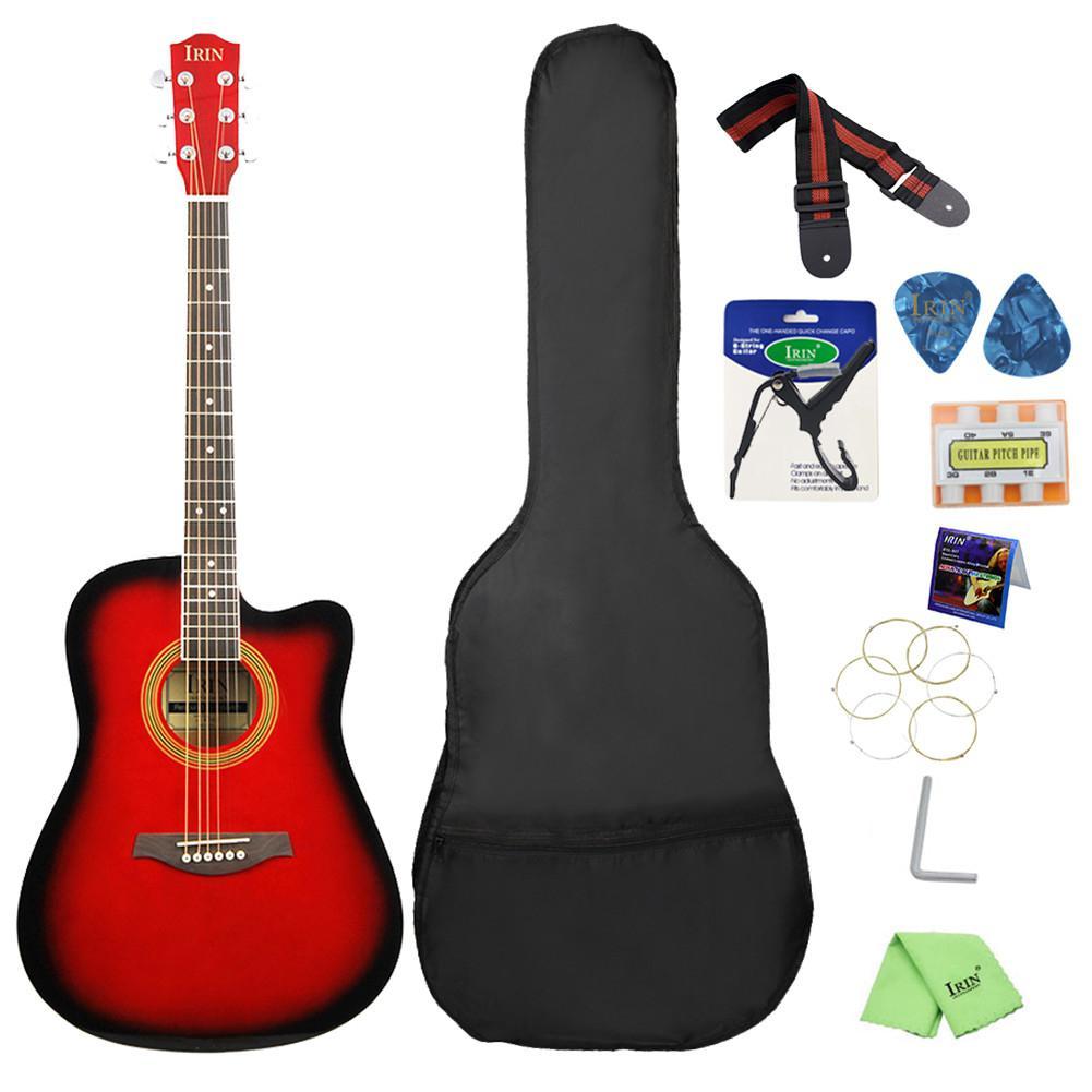IRIN 41 cal Basswood gitara akustyczna cutaway podstrunnica Guitarra 6 ciąg Ukulele początkujący gitara Instrument muzyczny