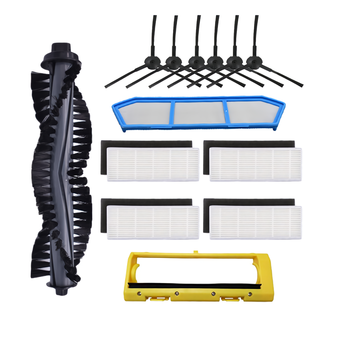 Main Brush Side Brushes Hepa Filter Strainer for Chuwi iLife A4 A4S A40 X432 Smart Robot Vacuum Cleaner Accessories Hoover Part for ilife a40 accessories chuwi ilife a4s a40 robot vacuum cleaner parts kits replacement dust hepa filter main brush side brush