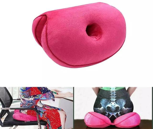 Seat Cushion Multifunctional Dual Comfort Memory Foam of Hip Lift Seat Cushion 8 Colors