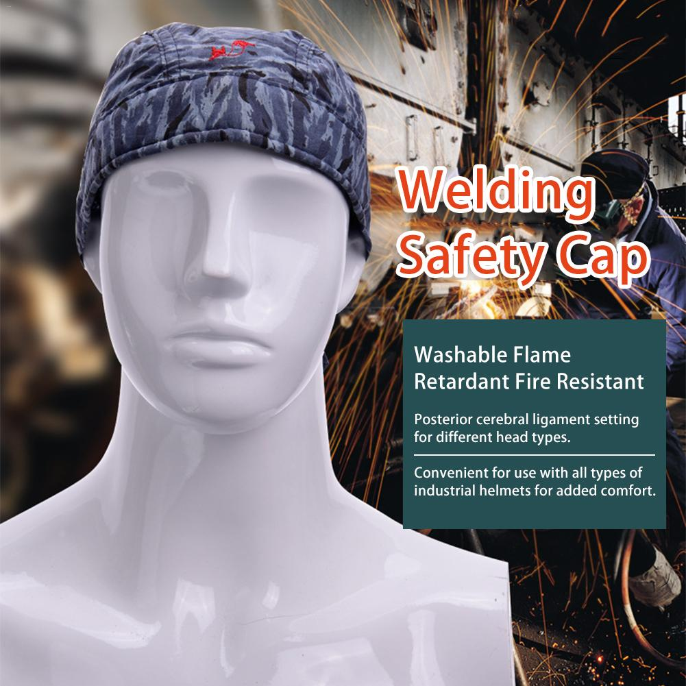 Welding Welder Protective Hat//Cap Scarf Welder Flame Retardant Cotton Helmet