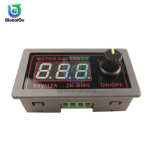 цена на DC 9-60V Adjustable PWM Motor Speed Controller DC Motor Controller Digital Display Governor Switch 12V 24V 48V 12A 20KHz