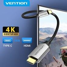 Vention USB C HDMI 4K typ C na HDMI 60HZ kabel Thunderbolt 3 Adapter do Huawei P40 Mate 30 Pro MacBook Air ipad kabel usb c