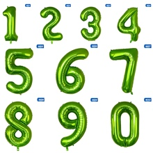 1pcs 40inch Green Foil Number Balloons New Digital Helium Globos Baby Shower Birthday Party Wedding Decoration Supplies foil number balloons birthday party decorations holiday diy decoration kids baby shower wedding decoration balls 40inch