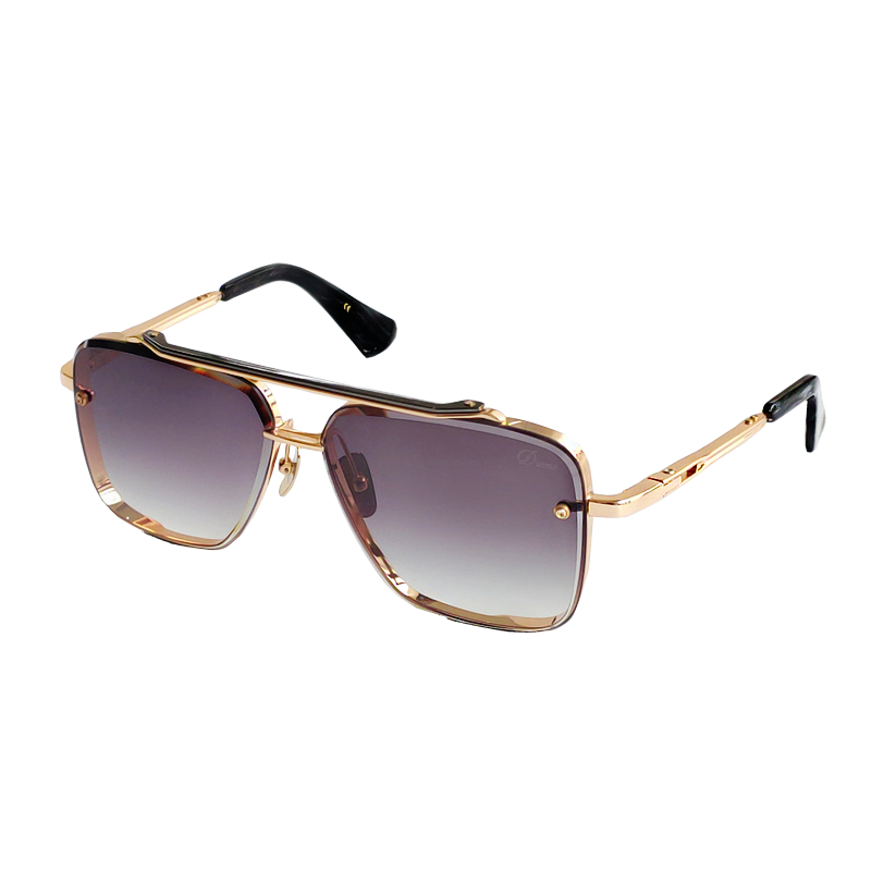 New Sunglasses Outdoor Cool Men Sunglass Gold Frame Square Metal Frame Vintage Style Outdoor Design Classical Model