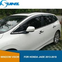 자동차 스타일링 연기 사이드 윈도우 디플렉터 honda jade 용 레인 가드 2013 2014 2015 2016 2017 2018 car window rain protector sunz