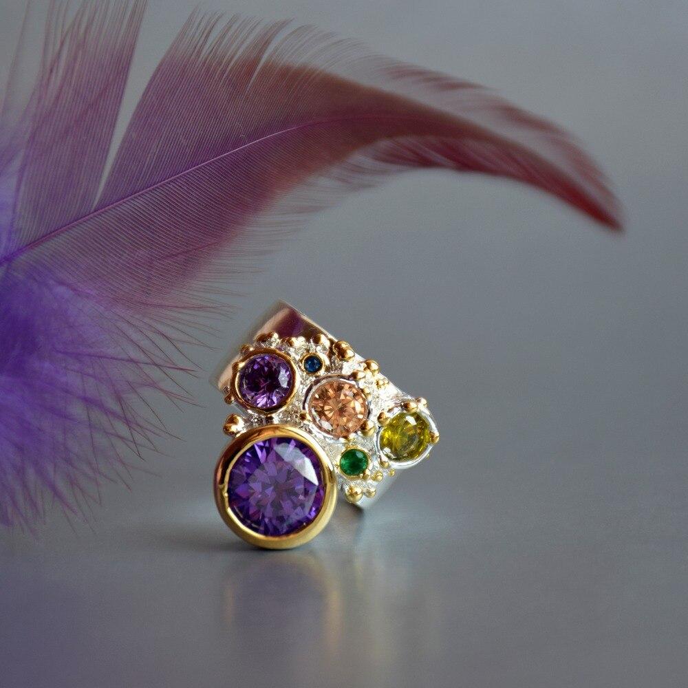WA11704 DreamCarnival 1989 New Arrive Colorful Feminine Zircon Ring for Women Big Purple Stone Gothic Wedding Engagement Jewelry7