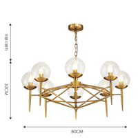 Modern style living room bedroom minimalist restaurant Chandeliers Nordic clothing Golden glass ball Chandeliers