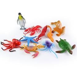 Реалистичные Мини-Фигурки морских животных, Кита, Лобстер, Развивающие детские модели, новинка, 24 шт.