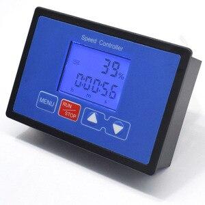 Image 4 - LCD Smart Digital Display 0~100% Tachometer adjustable 30A PWM DC Motor Speed Controller Timing Remote control 12V 24V 36V 48V