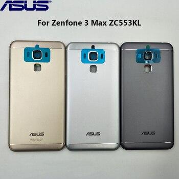 Original Metal Battery Cover Back Housing For Asus Zenfone 3 Max ZC553KL Rear Door Replacement Case Repair Part With Lens Glass