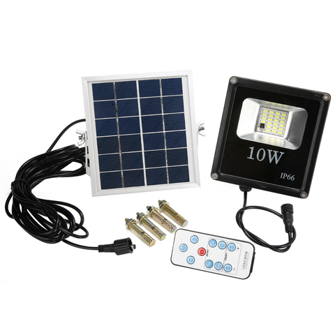 lampada solar ao ar livre 10 w led a prova dwaterproof agua powered sensor holofotes