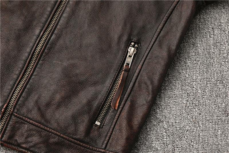 H1cb99760c1284527afc2fff5eb4617c7d Classic motor style,vintage genuine leather Jacket,fashion men brown Leather coat,street biker coat,sales
