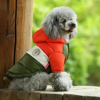 Куртка для маленьких питомцев, зимняя теплая одежда для собак, костюм для щенков, толстовка с капюшоном, светильник, два фута, пальто, лыжный костюм, чихуахуа