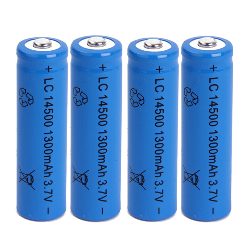 <font><b>14500</b></font> battery 3.7V 1300mAh rechargeable <font><b>li</b></font>-<font><b>ion</b></font> battery for Led flashlight Torch Replacement batery litio battery Cells image