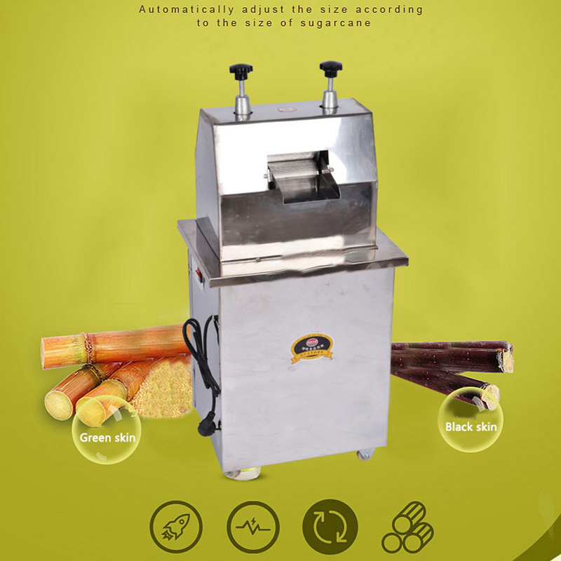 300 KG/H exprimidor eléctrico de caña de azúcar de acero inoxidable comercial máquina de jugo de caña de azúcar exprimidor comercial 220V 370W - 4