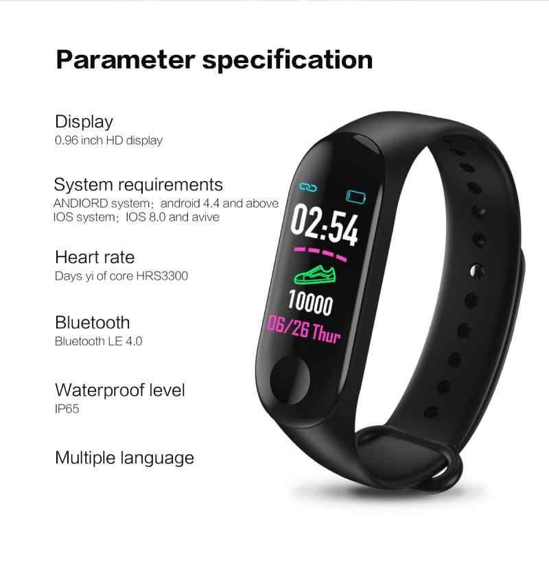 Pedômetro inteligente banda m3 mais rastreador de fitness monitor de pressão arterial pulseira de freqüência cardíaca contador passo à prova dwaterproof água banda inteligente