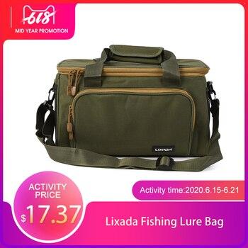 цена на Lixada Fishing Bag Portable Multifunctional Fishing Lure Bag Canvas Waist Shoulder Outdoor Storage Bag Carp Fishing Tackle Pesca