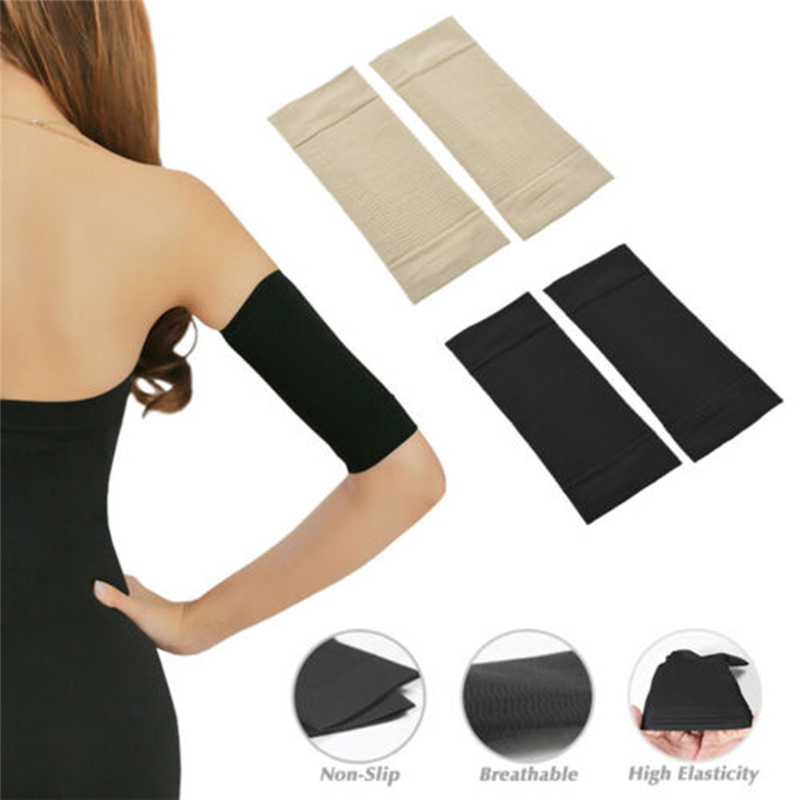 Women Elastic Compression Arm Shaping Sleeves Slimming Arm Shaperwear Mangas Para Brazo Weight Loss Elbow Massager Arm Wraps
