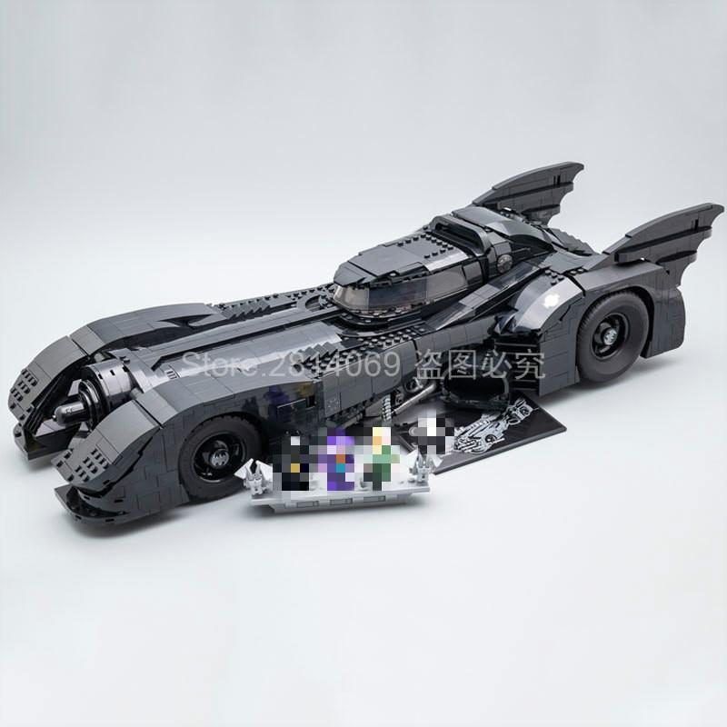 Presell 76139 super herói 1989 batmobile modelo 3856 pçs kits de construção blocos tijolos brinquedos crianças presente compatível 59005 batman