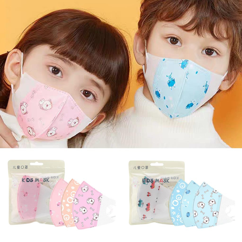 10PCS Face Masks For 0-8 Years Old Kids Baby Mouth Mask Children 4 Layer Face Masks Washable & Reusable Student Disposable Mask