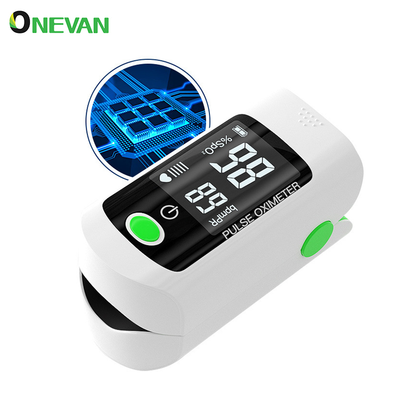 Fingertip Pulse Oximeters OLED Household PR SpO2 Pulse Oxymeter Portable Thumb Finger Oximeter Blood Oxygen Saturation Meter