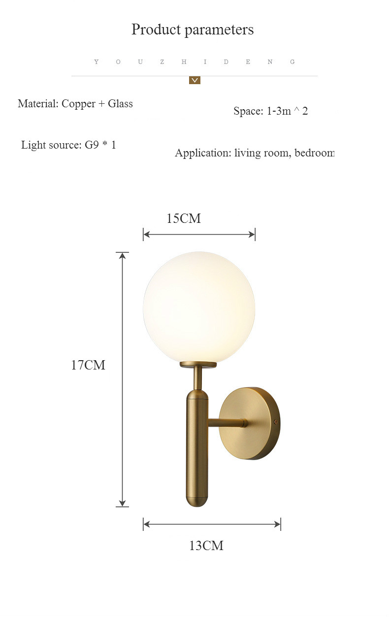 H1cba26d8ec05415f80e370914ba0b587j - Decorative Led Wall Lights Fixtures Nordic Glass Ball Wandlamp Up Down Bathroom Mirror light Gold Black Modern Round Wall Lamp