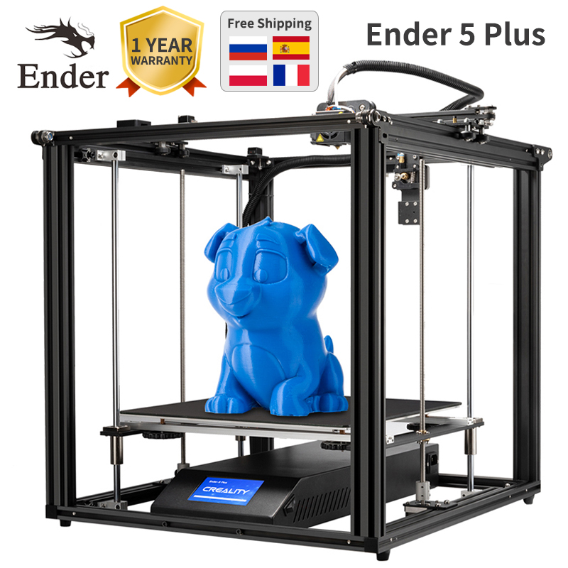 Ender 5 Plus 3D printer High precision Large size 350*350*400 printer 3D Auto leveling Dual Z axis Power off resume Creality 3D|3D Printers| |  - title=