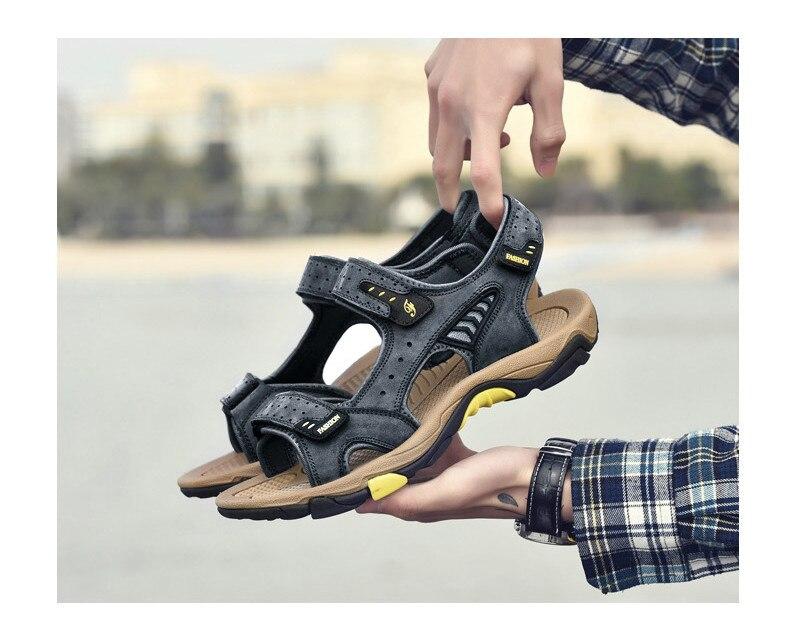 de couro genuíno gladiador para sandalias hombre