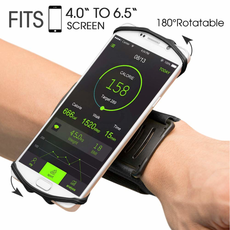 2019 Sports Armband Case Holder For IPhone X 8 Universal Rotatable Wrist Running Sport Arm Band For 4.0-6.5 Inch Phone Stand Pad