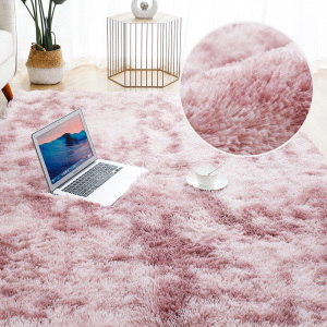 Plush Rug for Home Living Room Fluffy Carpet Thick Bed Room Decor Carpets Soft Rugs Anti-slip Floor Velvet Mat Tie Dyeing