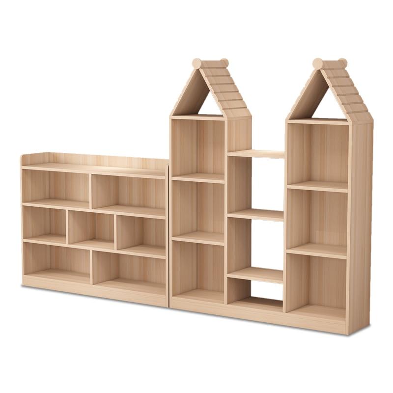 Solid Wood Bookshelf Children's Shelf Multi-layer Creative Small Bookshelf Simple Student Bookcase Floor-to-ceiling Bookshelf