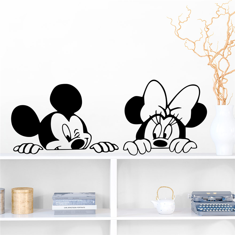 Mega Deal 57ee Large Mickey Mouse Wall Stickers Minnie Mouse