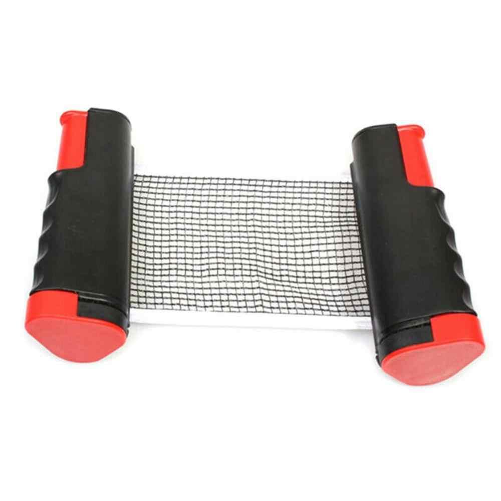 Ensemble de remplacement de jeux d'intérieur de matière plastique de Pe de support de filet portatif rétractable de Ping-Pong de Ping-Pong