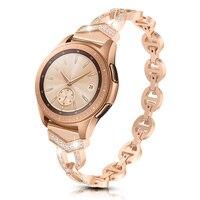 20mm Frauen Diamant Armband für Samsung Galaxy Uhr 3 41mm 42mm/Aktive 2 Band für Garmin vivomove HR/Vivoactive 3/Venu/SQ Strap