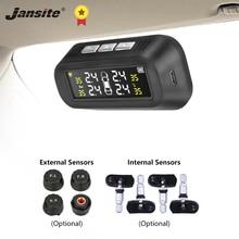 Jansite солнечная система контроля давления в шинах автомобиля шины Давление сигнализации Монитор Системы Дисплей крепятся к стеклу давления воздуха в шинах Температура Предупреждение с 4 мя датчиками бар
