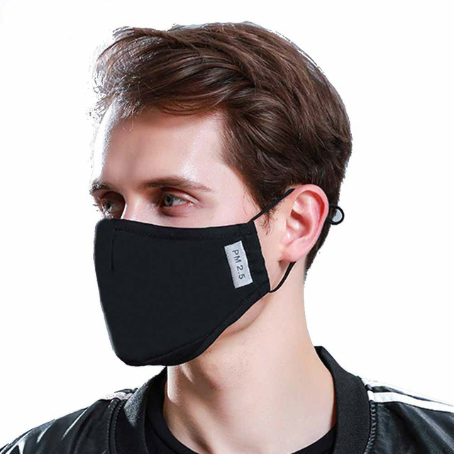 Fashion Cotton PM2.5 Anti haze smog mouth Dust Mask Activated carbon filter paper bacteria proof Flu Face Mask breathing mask