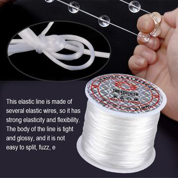 60 m rolka elastyczne koraliki nici biżuteria DIY frezowanie przewód nadgarstek bransoletka naszyjnik Anklet elastyczna nić tanie i dobre opinie CN (pochodzenie) Elastic thread Ręcznie na drutach Knitting
