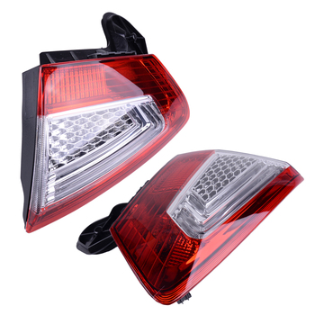 DWCX High Quality 2PCS Car Auto Inner Rear Tail Lamp Light Fit for Ford Mondeo Hatchbak 2011 2012 2013 2014 2015
