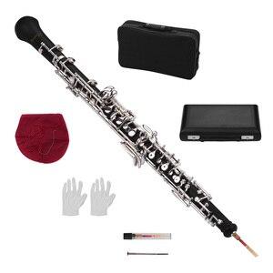 Image 2 - Muslady المهنية Oboe C مفتاح شبه التلقائي نمط النيكل مطلي مفاتيح آلة الرياح الخشبية مع Oboe القصب قفازات جلدية